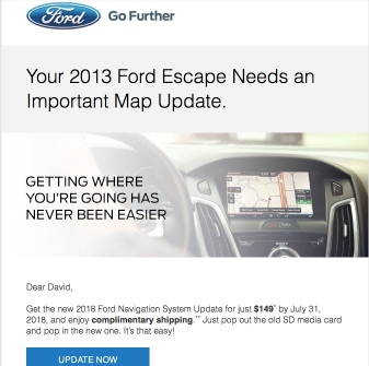 Ford Navi update